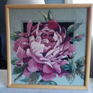Rose needlepoint